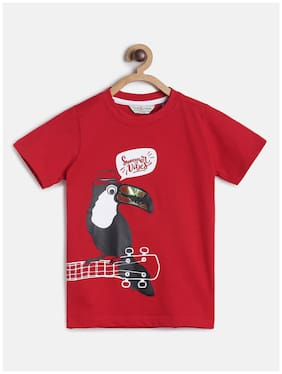 Tales & Stories Boy Cotton Printed T-shirt - Red
