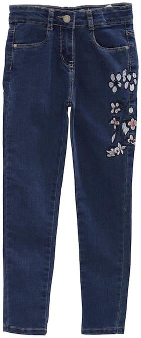 Tales & Stories Girls Blue Slim Fit Mid-Rise Clean Look Jeans Blue