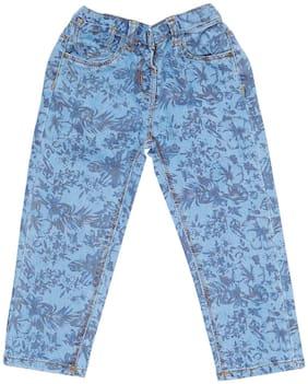 Tales & Stories Baby girl Denim Printed Jeans - Blue
