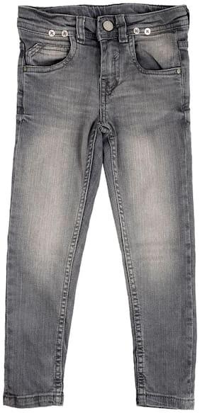Tales & Stories Boys Grey Slim Fit Jeans
