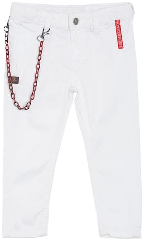 Tales & Stories Boy's Slim fit Jeans - White