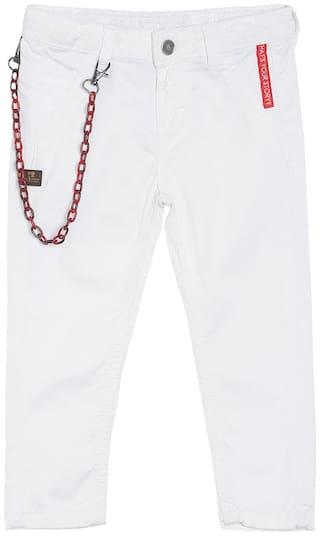 Tales & Stories Boy's Slim fit Jeans - White