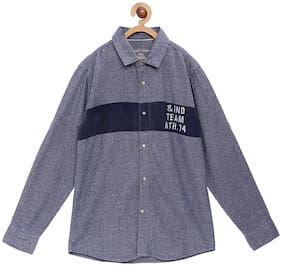 Tales & Stories Boy Cotton Printed Shirt Grey