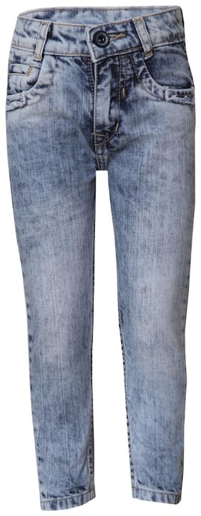 Tales & Stories Boy's Light Blue Washed Denim