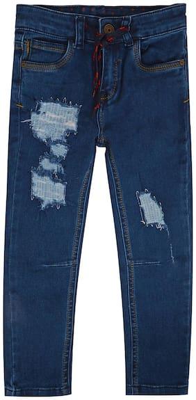 Tales & Stories Boys Light Blue Distressed Denim Pants