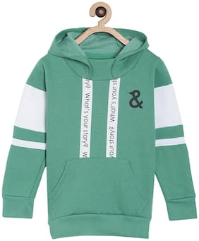 Tales & Stories Boy Cotton Printed Sweatshirt - Green