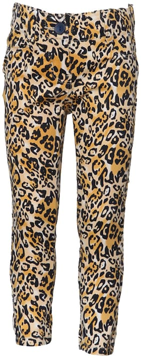 Tales & Stories Yellow Animal Printed Trouser