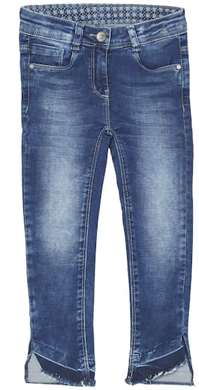 Tales & Stories Distressed Flared fit Jeans for Girls - Blue