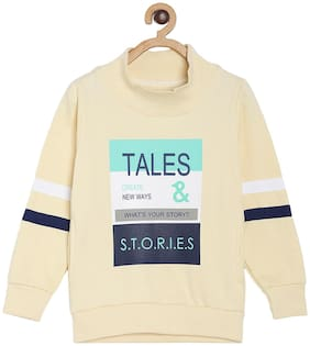 Tales & Stories Boy Cotton Printed Sweatshirt - White