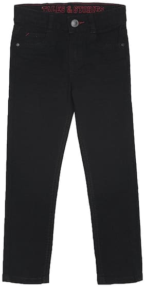 Tales & Stories Boy's Slim fit Jeans - Black