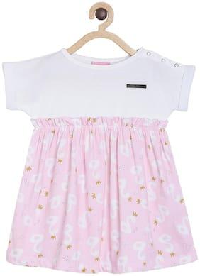 White;Pink Princess Frock