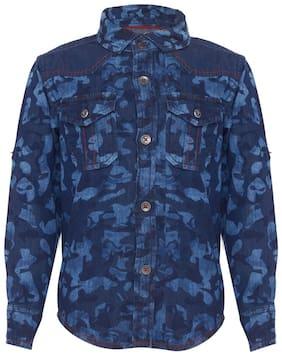 Tales & Stories Boy Cotton Solid Shirt Blue