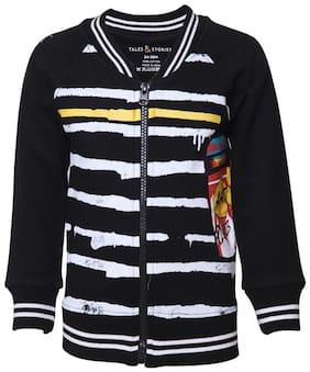 Tales & Stories Boy Cotton Solid Sweatshirt - Black