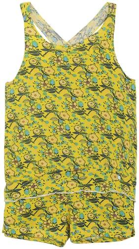 Tales & Stories Girl Cotton Top & Bottom Set - Yellow