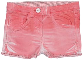 Tales & Stories Girl Denim Solid Regular shorts - Pink