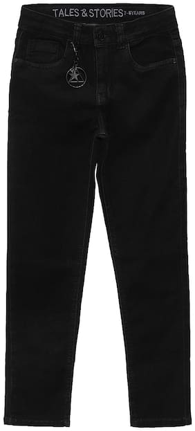 Tales & Stories Boy's Regular fit Jeans - Black