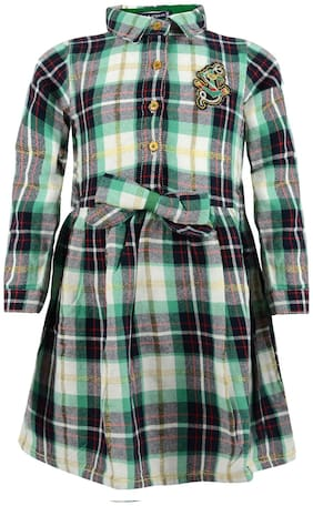 Tales & Stories Girls Checkered Girls Dress (Multi)