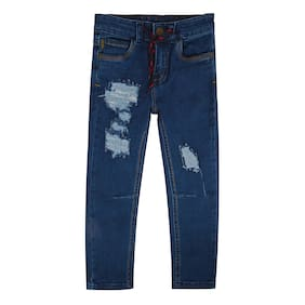 Tales & Stories Boys Light Blue Distressed Denim Pants