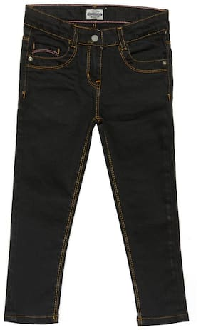 Tales & Stories Girls Solid Black Jeans