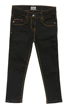 Tales & Stories Girl Solid Jeans - Black