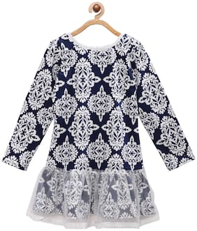 Tales & Stories Cotton Printed Frock - Blue