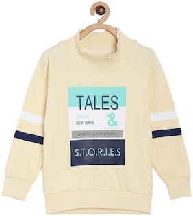 Tales & Stories Boy Cotton Printed Sweatshirt - White