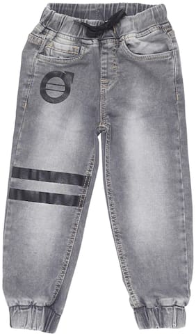 Tales & Stories Boys Grey Regular Fit Jogger Pants