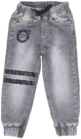 Tales & Stories Boys Grey Regular Fit Jogger Pants
