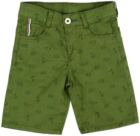Tales & Stories Cotton Shorts Printed Green Color For Boys