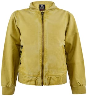 Tales & Stories Boy Cotton Solid Winter jacket - Yellow