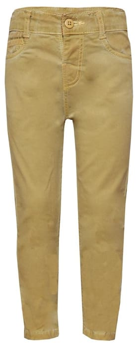 Tales & Stories Boy Solid Jeans - Brown