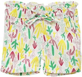 Tales & Stories Girl Cotton Printed Hot pants - Multi