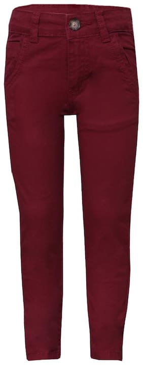 Tales & Stories Boy's Maroon Jeans