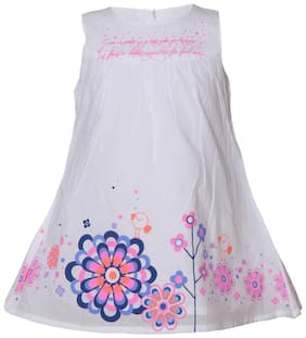 Tales & Stories Infants White Floral Printed Dress