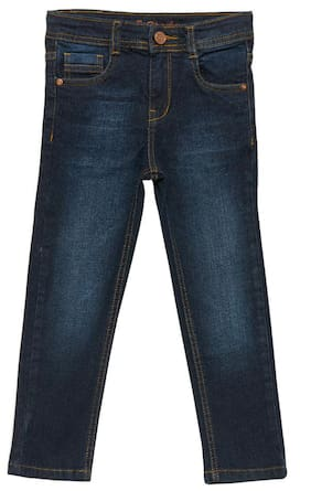 Tales & Stories Girl Solid Jeans - Blue