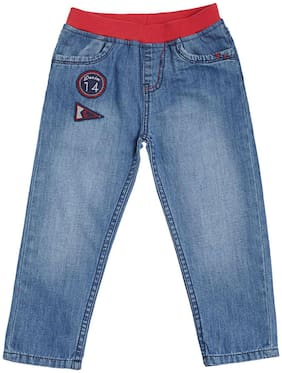 Tales & Stories Baby boy Denim Solid Jeans - Blue