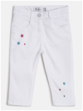 Tales & Stories Basic Slim fit Jeans for Girls - White