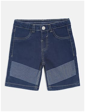 Tales & Stories Baby boy Denim Solid Shorts - Blue