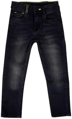 Tales & Stories Boys Black Elastane Slim Fit Jeans