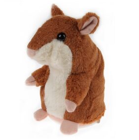 Talking Hamster Plush Toy Kids Speak Talking Sound Record Toy Coffee