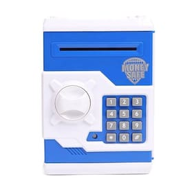 TamBoora  Original Money safe Kids Piggy Savings Bank with Electronic Lock, Assorted Color, Battery Operated, Multi Color