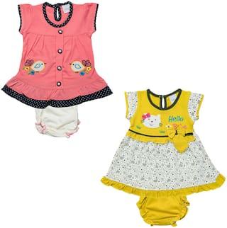 Tasselz Baby girl Top & bottom set - Multi