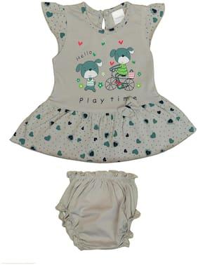 Tasselz Baby girl Top & bottom set - Grey