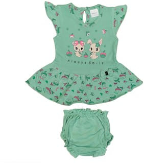 Tasselz Baby girl Top & bottom set - Green