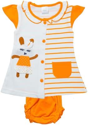 Tasselz Baby girl Top & bottom set - Orange