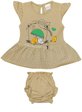 Tasselz Baby girl Top & bottom set - Brown
