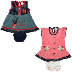 Tasselz Baby girl Top & bottom set - Multi