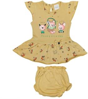 Tasselz Baby girl Top & bottom set - Brown