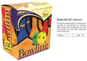 Tearstosmile's Multi Colour Ekta Sports Bowling Set Senior.(10 Pins) For Age 5+