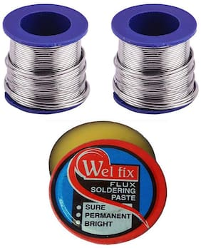 TechDelivers 50grams Solder Wire 2Piece Rolls and Paste Best Quality